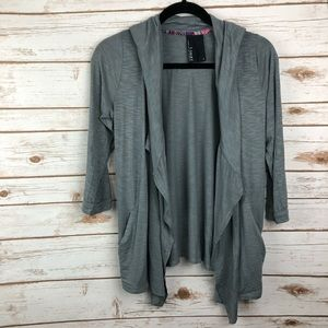 Anthropologie Dolan Quarter Sleeve Hooded Cardigan
